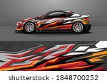 car livery design with sporty...   Shutterstock .eps vector #1848700252