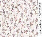 vector seamless floral pattern...   Shutterstock .eps vector #1848739558
