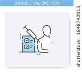 vaccine test line icon.clinical ... | Shutterstock .eps vector #1848742015