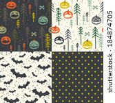 four seamless patterns.... | Shutterstock .eps vector #184874705