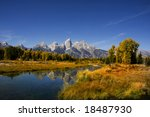 fall beauty of grand teton... | Shutterstock . vector #18487930