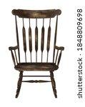 worn rocking chair 3d...   Shutterstock . vector #1848809698