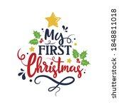 my first christmas vector...   Shutterstock .eps vector #1848811018