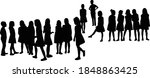 all children together ... | Shutterstock .eps vector #1848863425