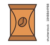coffee product packing bag fill ... | Shutterstock .eps vector #1848864988