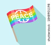 peace flag symbol icon flat... | Shutterstock .eps vector #1848901198