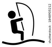 windsurfing sport icon.... | Shutterstock .eps vector #1848905212