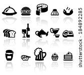 food vector icons set . eps10. | Shutterstock .eps vector #184892285