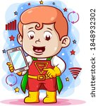 the cartoon of the boy using... | Shutterstock .eps vector #1848932302
