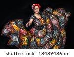 Latin Woman Dressed As Chiapas...