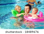 with the father in the swimming ... | Shutterstock . vector #18489676