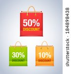 sale paper shopping bag. vector ... | Shutterstock .eps vector #184898438