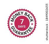 money back guarantee  free... | Shutterstock .eps vector #1849002655