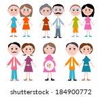 vector family members set... | Shutterstock .eps vector #184900772