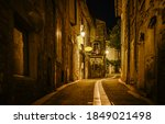 Old Narrow Paved Street In...