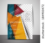 CMYK Business Corporate Flyer Template | Geometrical Design - stock vector