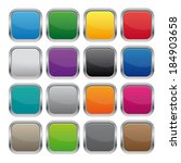 metallic square buttons   Shutterstock .eps vector #184903658