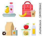 set of vector illustrations on... | Shutterstock .eps vector #1849058662