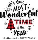 merry christmas vector view. it'... | Shutterstock .eps vector #1849074685