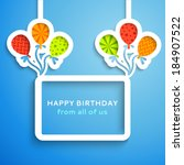 happy birthday colorful... | Shutterstock .eps vector #184907522