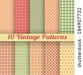 10 vintage different vector... | Shutterstock .eps vector #184907732