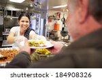 kitchen serving food in...   Shutterstock . vector #184908326