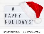 happy holidays hashtag on white ... | Shutterstock . vector #1849086952
