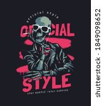 official style slogan with... | Shutterstock .eps vector #1849098652