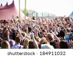 crowds enjoying themselves at... | Shutterstock . vector #184911032