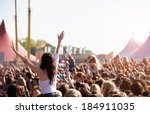 crowds enjoying themselves at... | Shutterstock . vector #184911035