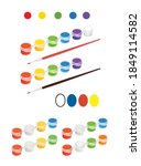 plastic paint clip strip in...   Shutterstock .eps vector #1849114582