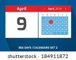 9 april vector day calendar ...