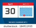 30 april vector day calendar ...