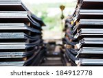 heavy plates made of steel | Shutterstock . vector #184912778
