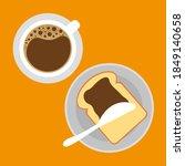 espresso or cappuccino cup icon.... | Shutterstock .eps vector #1849140658