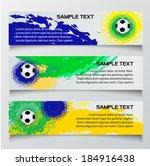 vector soccer banner in brazil... | Shutterstock .eps vector #184916438