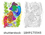 page for coloring book.... | Shutterstock .eps vector #1849175545