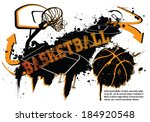 grunge basketball template  ... | Shutterstock .eps vector #184920548
