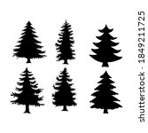 isolated pine on the white... | Shutterstock .eps vector #1849211725