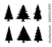 isolated pine on the white... | Shutterstock .eps vector #1849211995