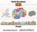 north macedonia administrative...   Shutterstock .eps vector #1849249822