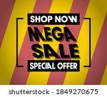 mega sale inspiration. yellow... | Shutterstock .eps vector #1849270675