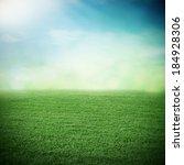 sport grass field in summer or... | Shutterstock . vector #184928306