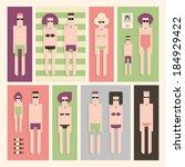 twelve people sunbathing on the ...   Shutterstock .eps vector #184929422