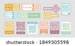 qr code frame vector set. scan... | Shutterstock .eps vector #1849305598