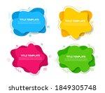 abstract vector banners set....   Shutterstock .eps vector #1849305748