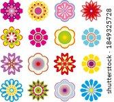 set of vector multicolored...   Shutterstock .eps vector #1849325728