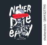 skeleton illustration on never... | Shutterstock .eps vector #1849327795
