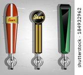 beer taps | Shutterstock .eps vector #184932962