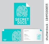 secret documents logo.... | Shutterstock .eps vector #1849330855